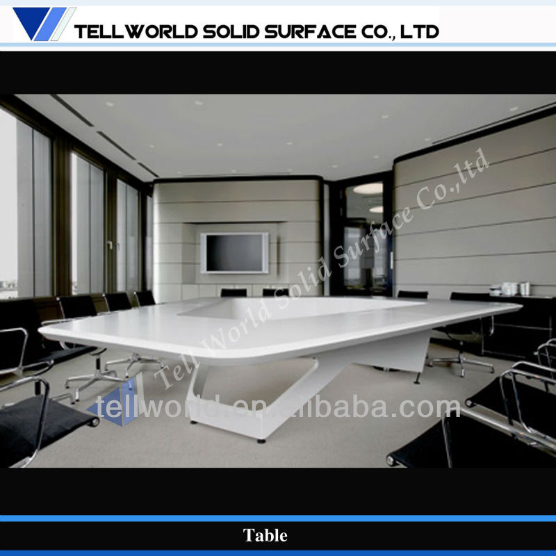 TW elegance style customized artificial smooth touch conference table