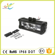 DOT approved 6D 30W 6.6inch single row led light bar for all vehicles