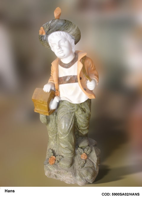 outdoor garden decoration stone child statue