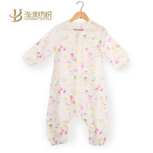 fashion full muslin cotton or bamboo fiber baby outdoor sleeping bag