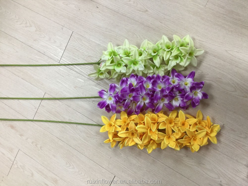 artificial flower single stem high quality silk flowers