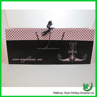 Ribbons paper bag for packing hair extension box