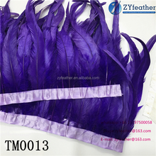 Wholesale Beautiful Fabric 10-15cm rooster tail feather trim for for decoration TM0013