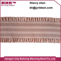 Colorful stripe polyester waistband soft nylon rubber band use for waistband