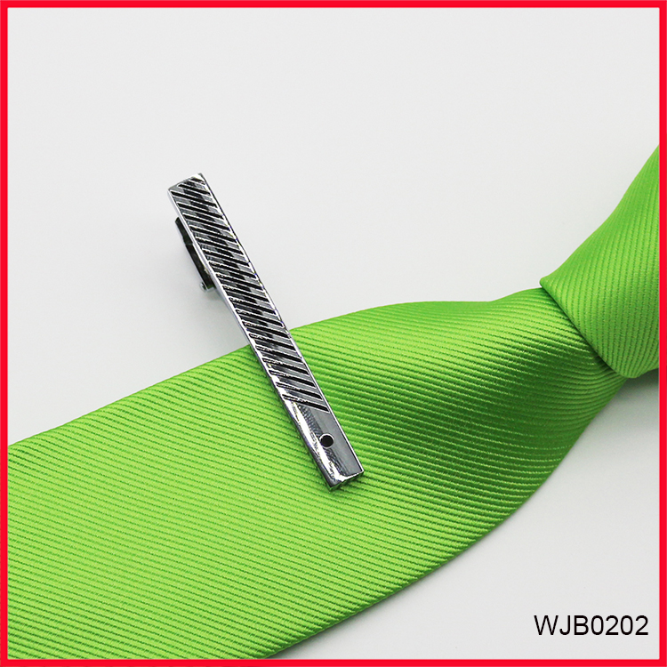 2018 New Design Neck Tie Clip Silver Metal Bars