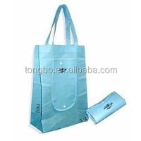 Promotion Reusable Folden Nonwoven Tote Shopping Bags with Button