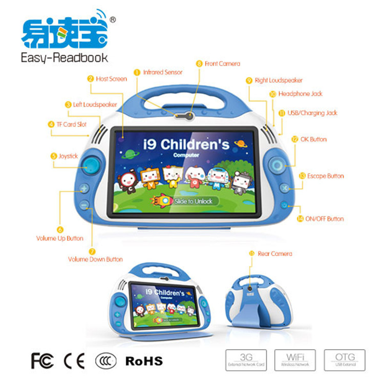 OEM & ODM service customized education learning machine kids tablet pc