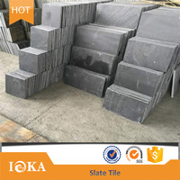 Black grey color natural stone slate for wall cladding