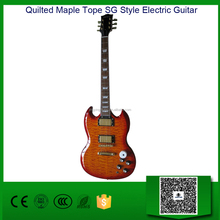 Quilted Maple Tope SG Style Electric Guitar