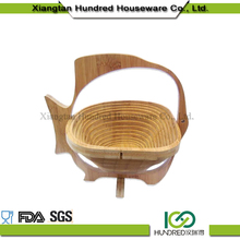 Environmental Discount bamboo folding fruit basket