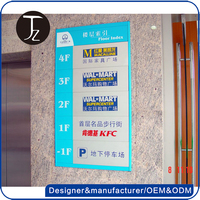 Customized factory sale indoor pvc sign board for building directory