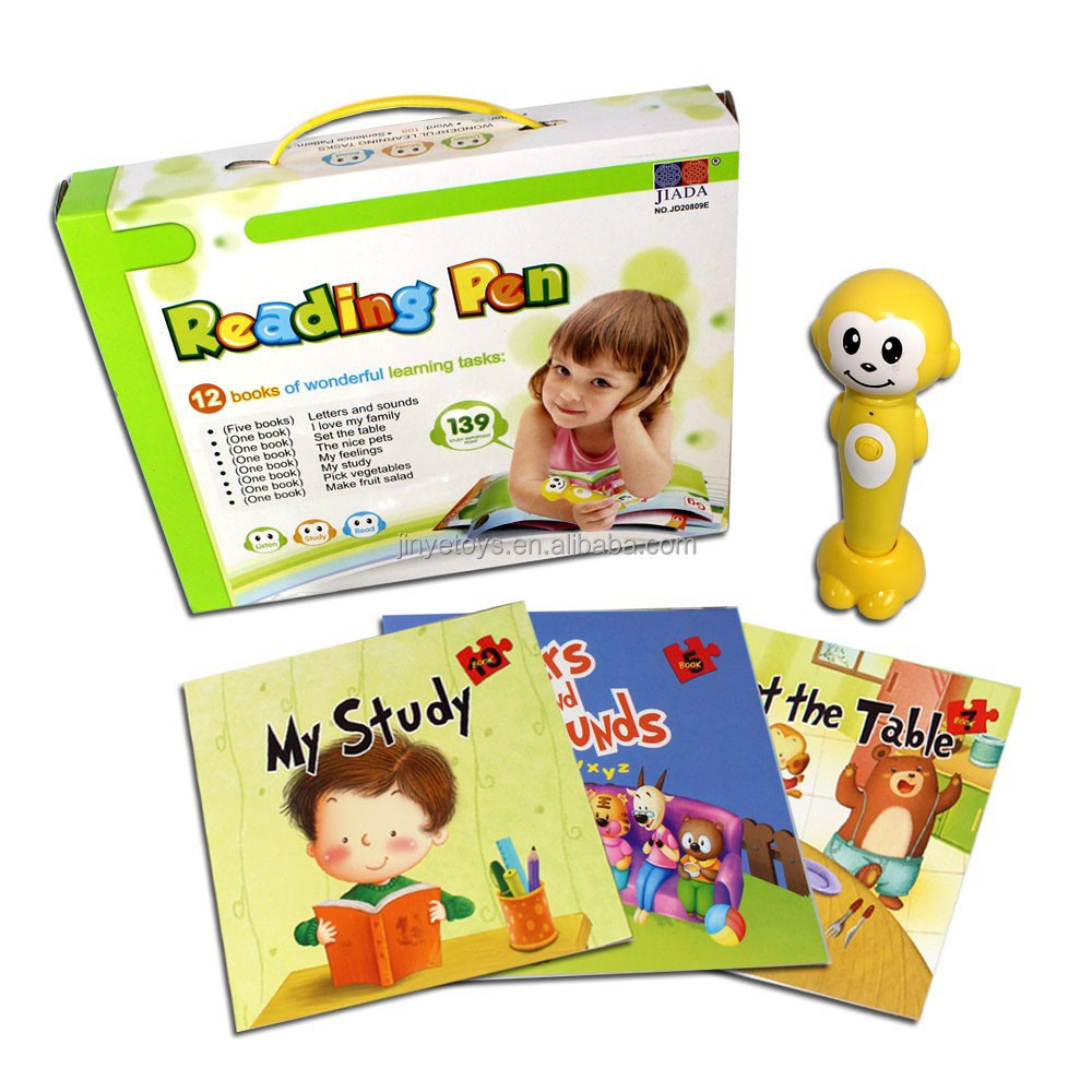 Educational toys English learning reading pen with 12 books
