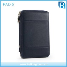 Newest Business Tablet Leather Wallet Case For iPad 5, PU Cases For iPad 5 Tab