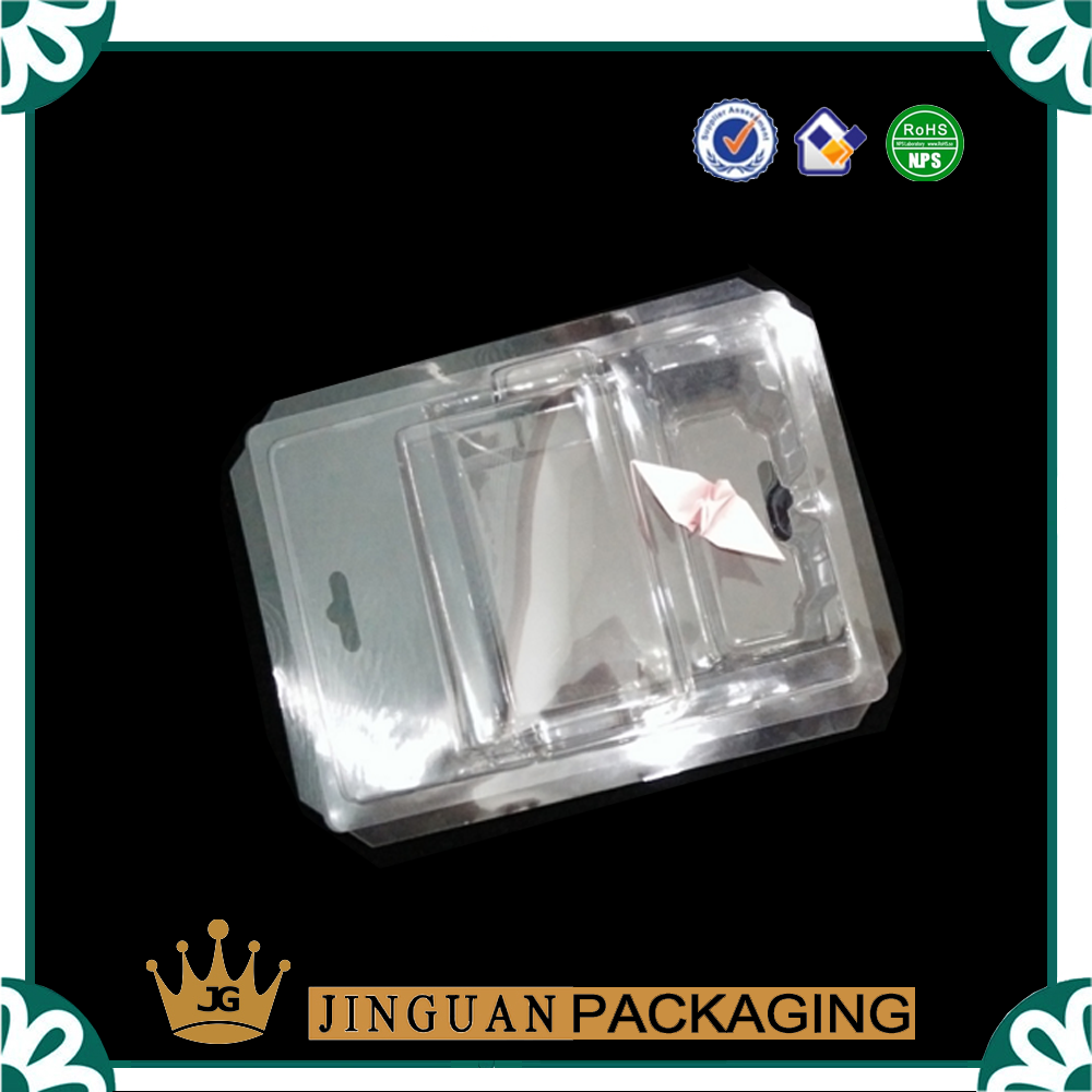 Transparent PVC Slide Card Blister With Hang Hole For Supermarket