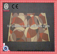 Printed PVC floor mat with bamboo chip design,anti-slip mat
