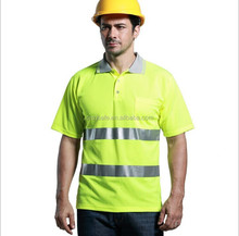 ANSI Class 2 Reflective Safety Lime Short Sleeve T-shirt or Cycling Safety