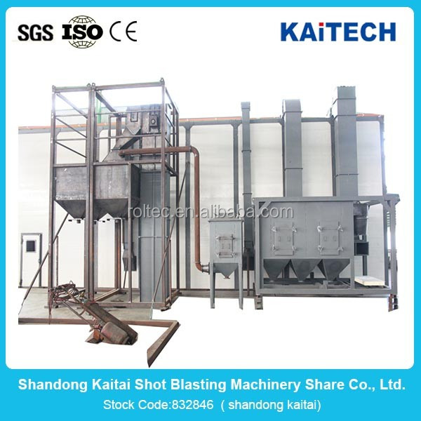 Q698 steel plate surface shot blast cleaning equipment/sandblasting equopment