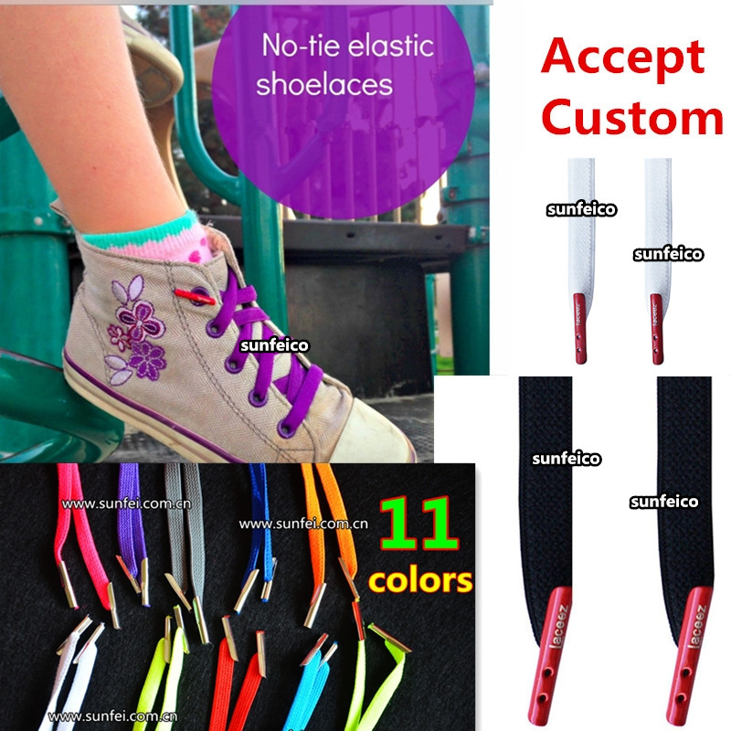 No-tie Kids Elastic Shoelaces~No Tie Flat Elastic Shoelaces~Customized Kids Shoelaces~11 colors available~No Tie Flat Shoelaces