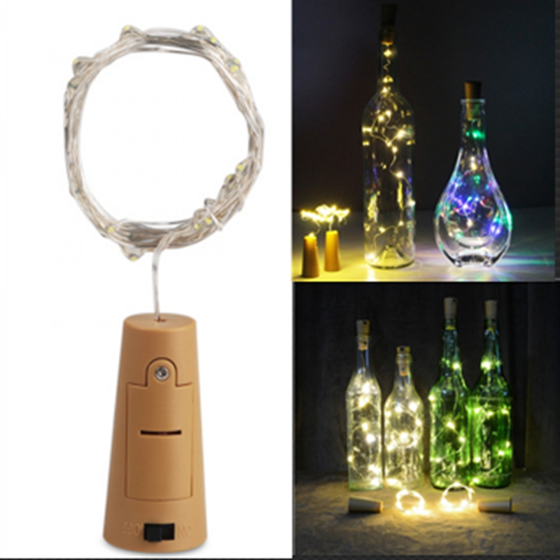 200CM Cork Shaped String Christmas holiday decoration 2m 20LED Battery Powered Wine Bottle Lights