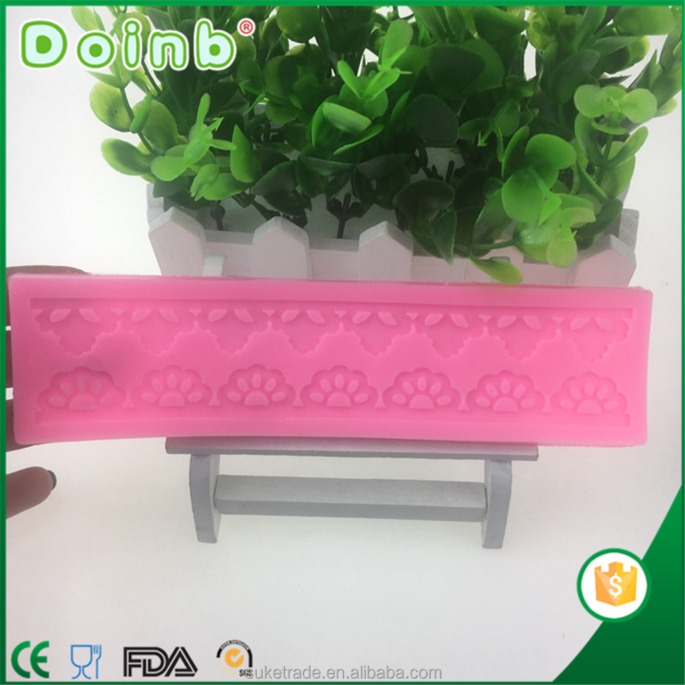 Doinb best price supplier custom 3D silicone lace fondant mat mold for cake decorating baking tools ST2316
