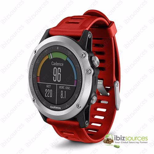 Genuine New Garmin Fenix 3 with Heart Rate Monitor GPS Watch Red
