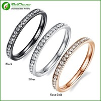 Joyas new products stainless steel crystal jewelry ring gold plated Jewelry