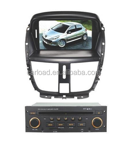 Double din car dvd for peugeot 206 car dvd navigation