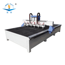 NC-2412 Jinan cylinder 4 axis CNC ROUTER with 12 heads