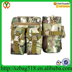 Light weight outdoor military waist bag with water bottle holder