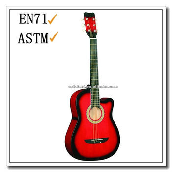 cheap OEM 38 inch cutaway Acoustic Guitar with high quality