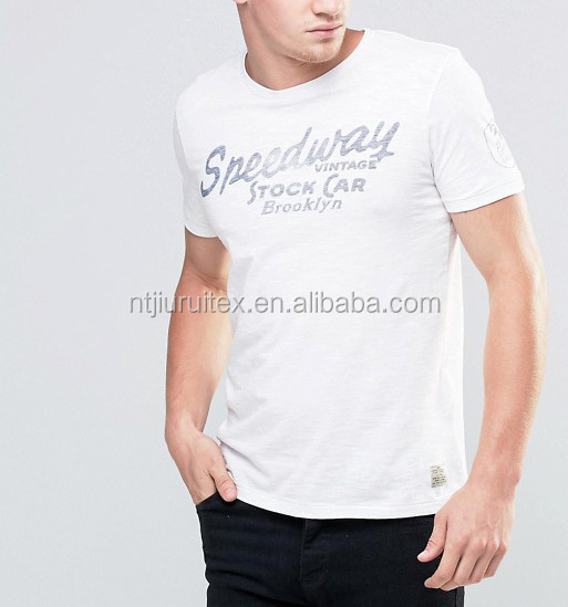 cheap china wholesale vintage wash print jersey t shirt for men