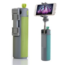 2016 Mutil-function Selfie Stick Monopod TF Card USB Flash drive Outdoor Bluetooth Speaker with 2000mah power bank