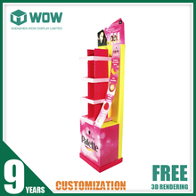 Point of Purchase Collapsible Corrugated Hair Salon Display Shelf