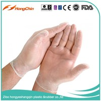 Quality ensured Industrial grade AQL 2.5 transparent heavy duty vinyl gloves
