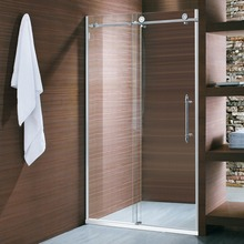 Economical Elegant Design Customizable Single Door Sliding Shower Screen With SUS304 Running Rail & Rollers(O02P)