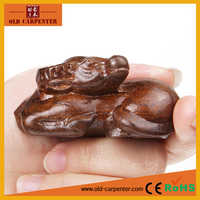 Chinese Zodiac Bull decorative animal wood carving