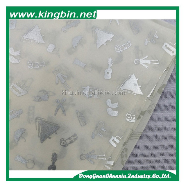Factory price wholesale custom logo printed waterproof wrapping paper for flower