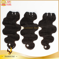 wholesale 14'' top quality indian temple hair body wave popular sold indian temple hair