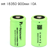 Brillipower green 18350 high drain imr 3.7v 900mah li-ion battery