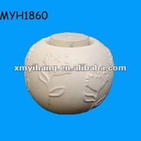 New fashion ceramic embossed votive candle holder