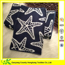 High Quality Yarn Dyed Star Patterned Best Blue Red Contrast Color Towel
