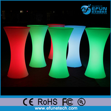 RGB color changing battery source illuminated led light long narrow bar tables