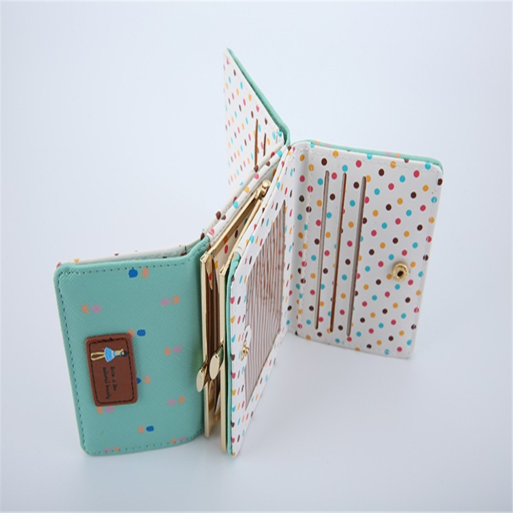 Custom student lovely empaistic smart wallet widthways card holder wallet