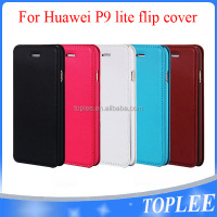 factory price!!! P9 flip cover PU Leather Case For huawei P9 lite Mobile Phones