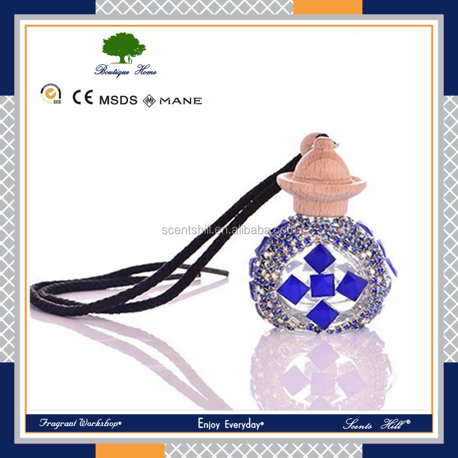 Hot sale 10ml essential oil based air fresheners with logo personal car in stock glass bottle