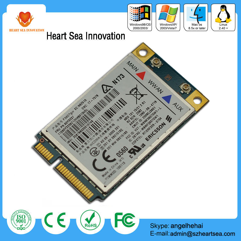 Hot new 3G/GPS/HSPA ericsson f3067gw module mini pcie wireless card