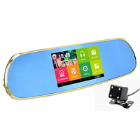 5 in 1 Car Camera+rear view mirror+gps navigation+Android 4.4+WIFI+5inch Capacitive Screen+FMT