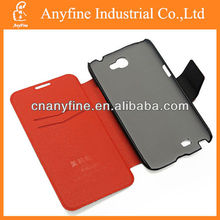 Genuine mobile phone leather case for samsung galaxy note2 n7100 with magnet