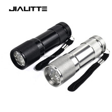 Jialitte F127 Wholesale Ultraviolet Pet Detector Dry Battery Blacklight Torch Light 395nm 9 Led UV Flashlight