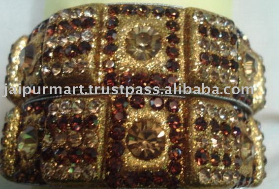 Wholesale Indian rhinestone crystal Bangles/bracelet of jaipur